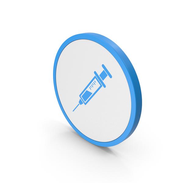 Icon Syringe Blue PNG & PSD Images