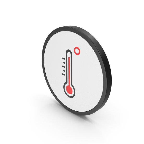 Meteorology Symbols: Icon Thermometer High Temperature PNG & PSD Images