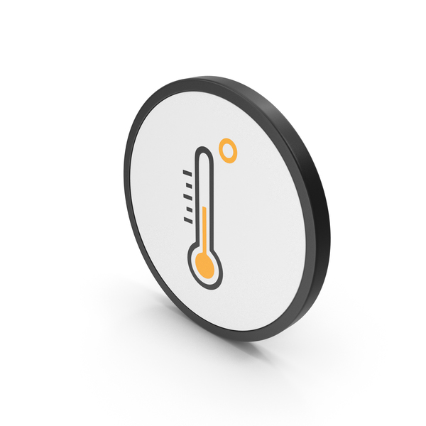 Meteorology Symbols: Icon Thermometer Medium Temperature PNG & PSD Images