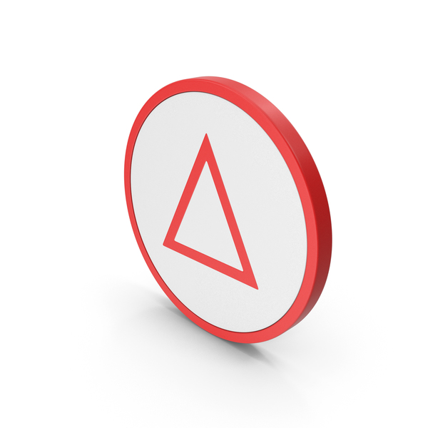 Computer: Icon Triangle Red PNG & PSD Images