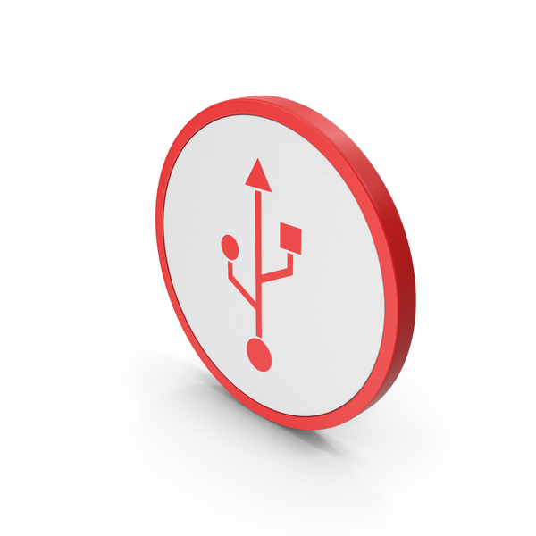 Symbols: Icon USB Red PNG & PSD Images