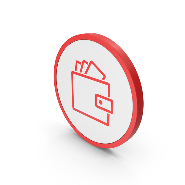 Symbols: Icon Wallet With Money Red PNG & PSD Images