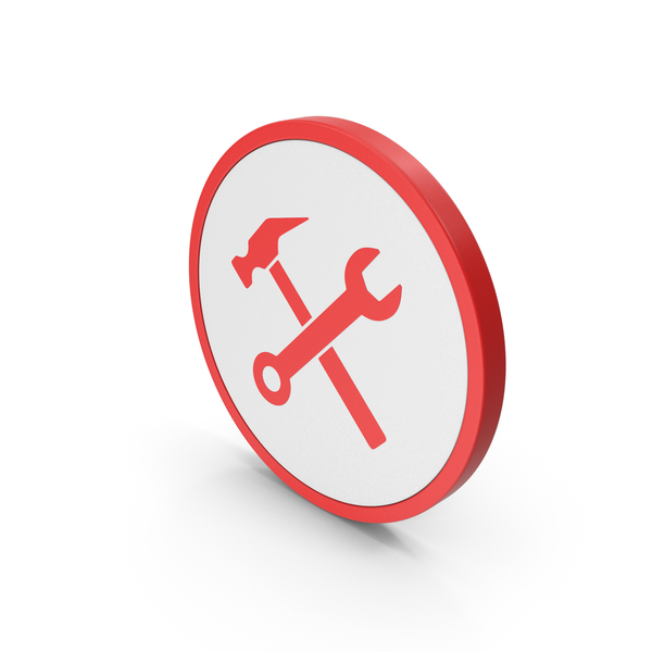 Logo: Icon Wrench And Hammer Red PNG & PSD Images