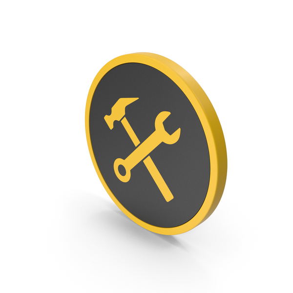 Logo: Icon Wrench And Hammer Yellow PNG & PSD Images