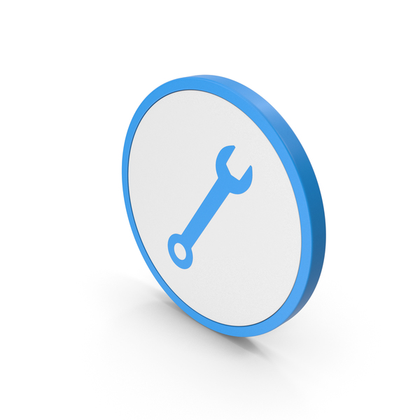 Symbols: Icon Wrench Blue PNG & PSD Images