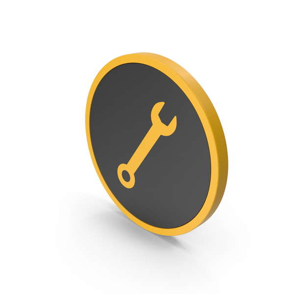 Symbols: Icon Wrench Yellow PNG & PSD Images