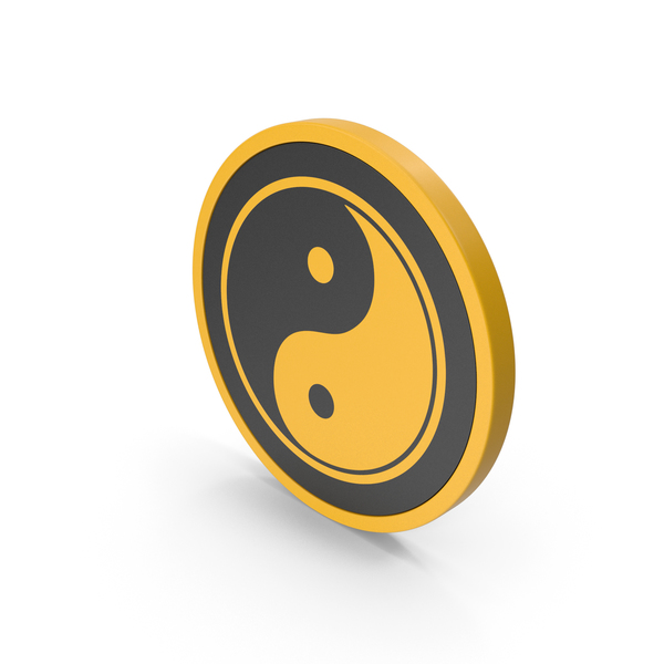 Industrial Equipment: Icon Yin Yang Yellow PNG & PSD Images