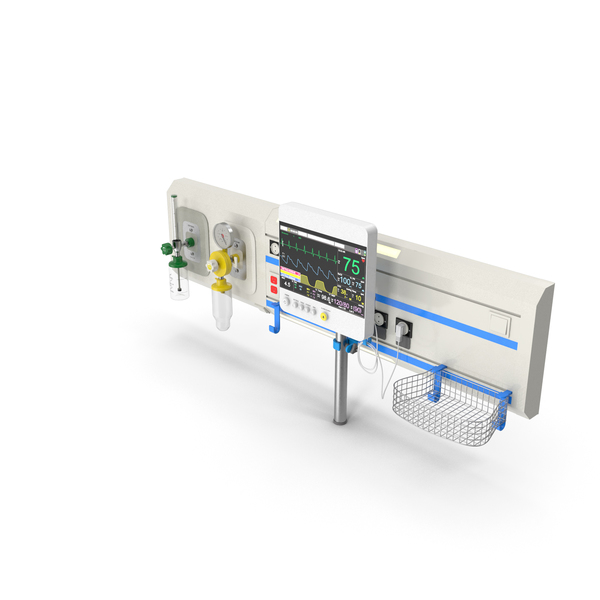 Hospital Bed: ICU Headboard Set PNG & PSD Images