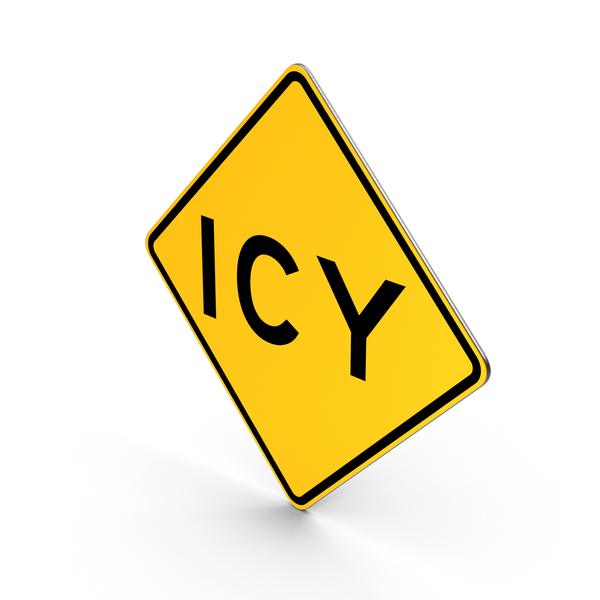 Traffic Signs: Icy California Road Sign PNG & PSD Images