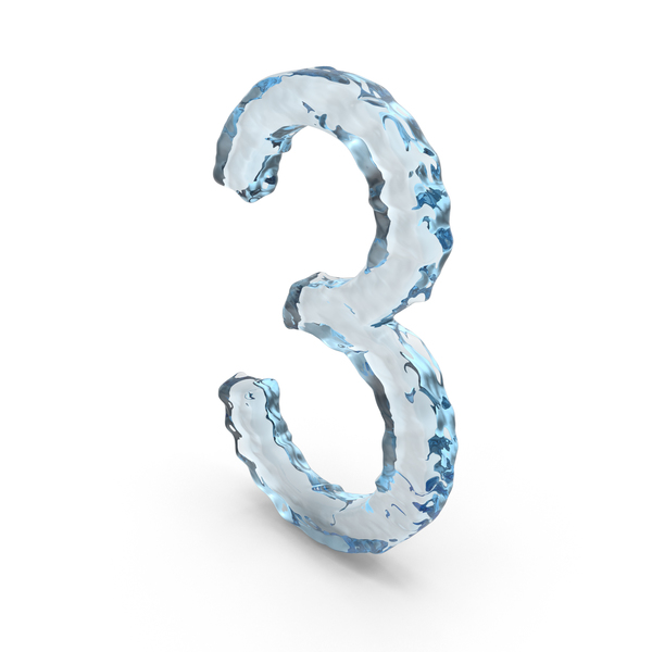 Icy Water Number 3 PNG & PSD Images