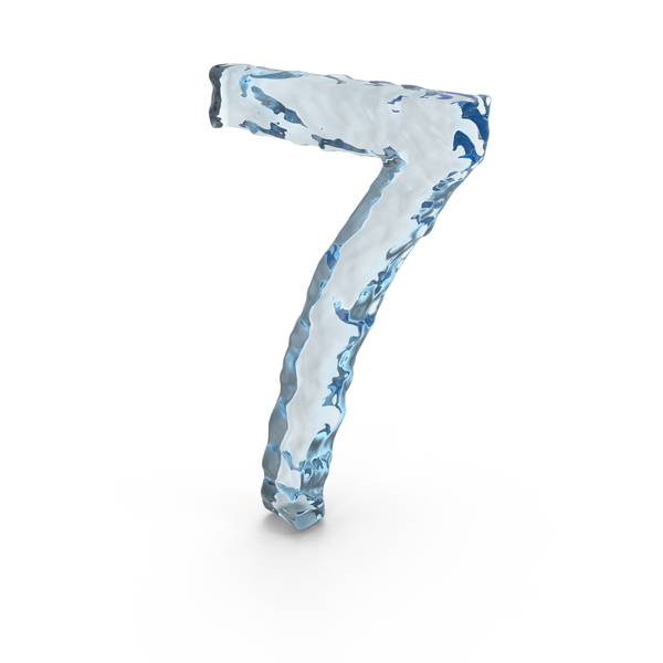 Icy Water Number 7 PNG & PSD Images