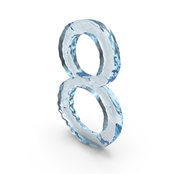 Icy Water Number 8 PNG & PSD Images