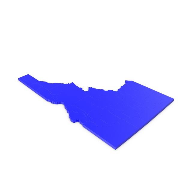 Idaho Counties Map PNG & PSD Images