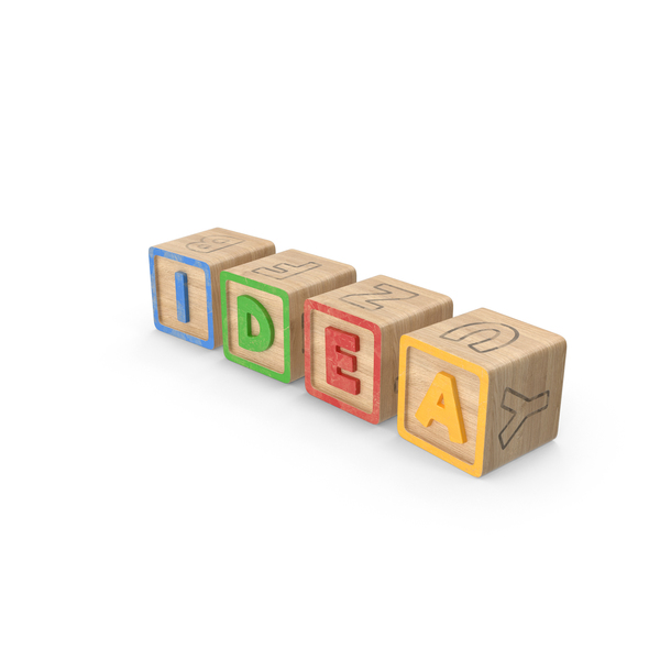 Idea Alphabet Blocks PNG & PSD Images