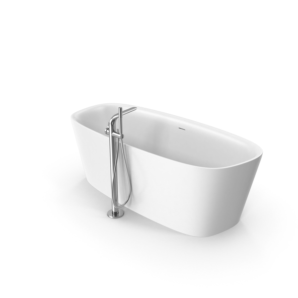 Ideal Standard Dea Flee standing Oval bath Bathtub & Floor Mixer PNG & PSD Images