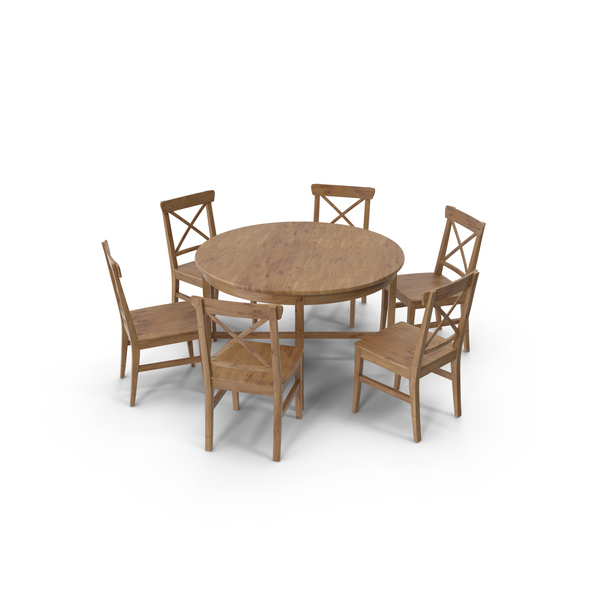 Ikea Leksvik Dining Room Set PNG & PSD Images