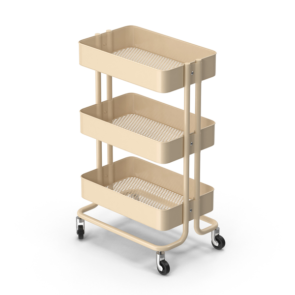 Ikea Raskog Kitchen Cart Beige PNG & PSD Images