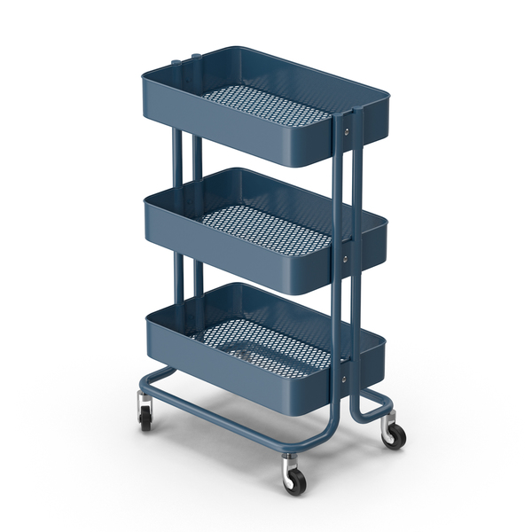 Ikea Raskog Kitchen Cart Blue PNG & PSD Images