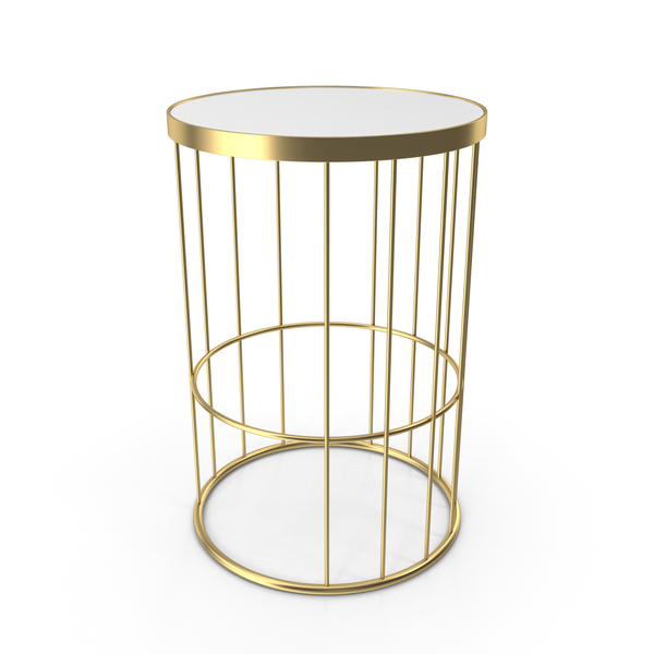 Il Bronzetto Brass Brothers Round Cage Side Table PNG & PSD Images