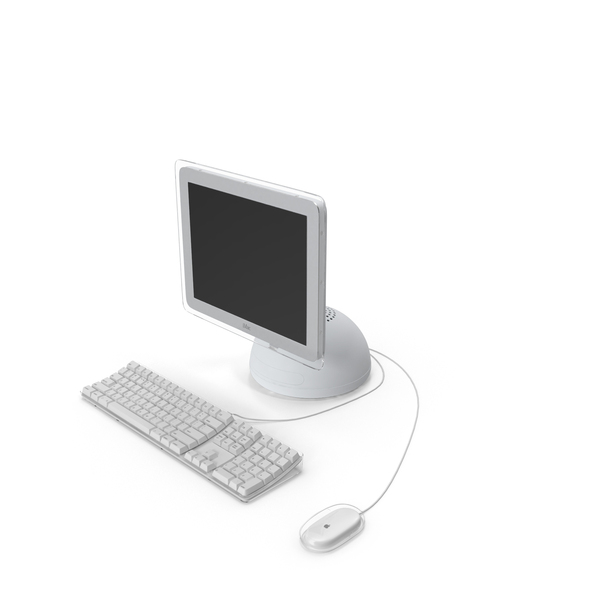 Desktop Computer: iMac (Flat Panel) PNG & PSD Images
