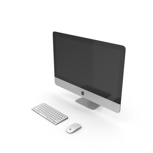 Imac with Keyboard and Mouse PNG & PSD Images