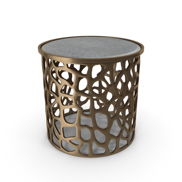 Imogen Copper Drum Side Table PNG & PSD Images