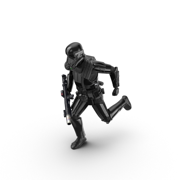 Soldier: Imperial Death Trooper Running Pose PNG & PSD Images
