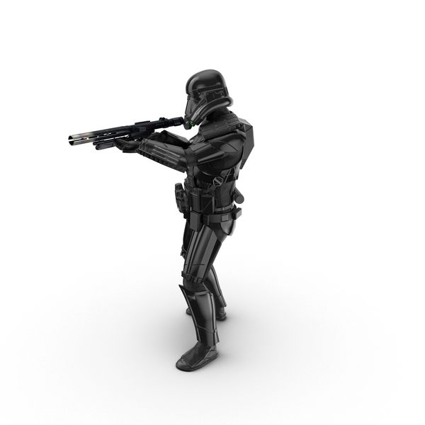 Soldier: Imperial Death Trooper Shooting Pose Object