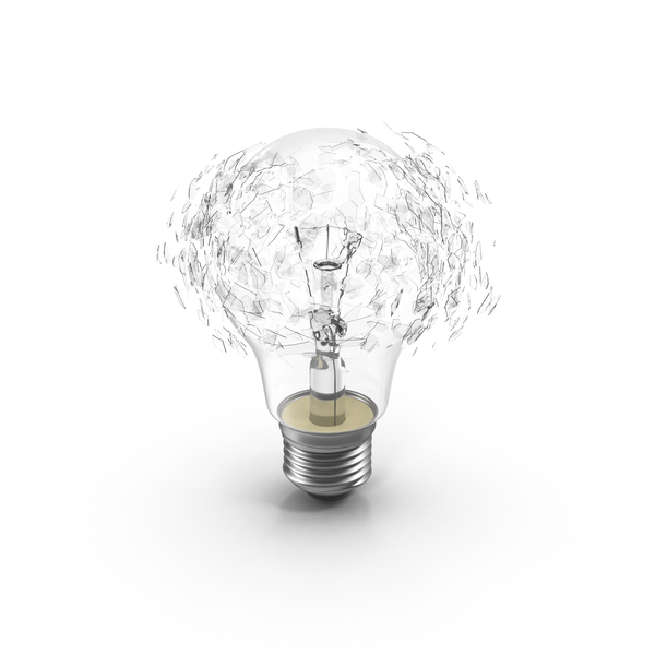 Incandescent Bulb Explosion PNG & PSD Images