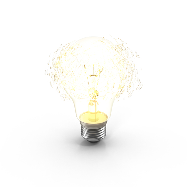 Incandescent Bulb Explosion On PNG & PSD Images