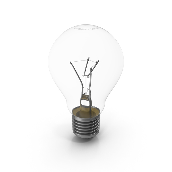 Incandescent Light Bulb E27 (Edison 27 mm) PNG & PSD Images