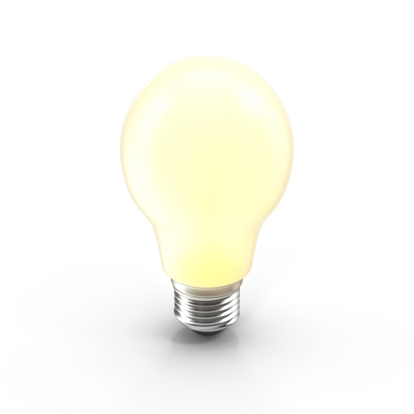 Incandescent Matte Bulb On PNG & PSD Images