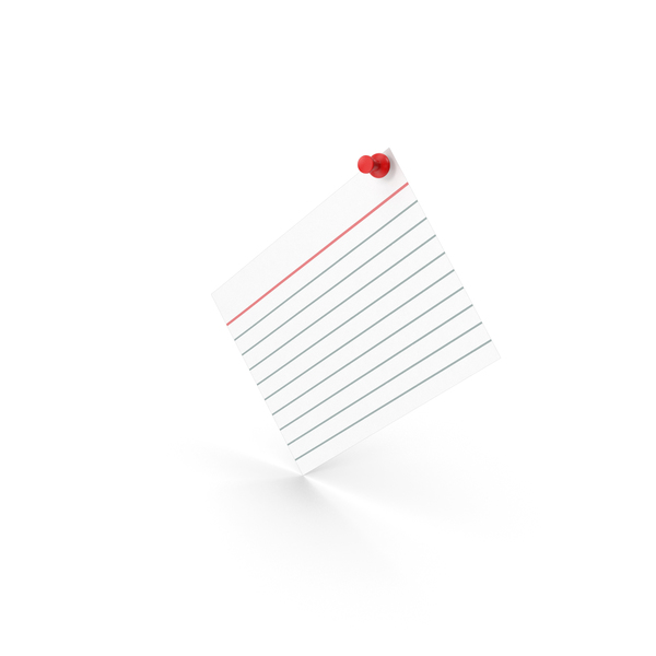 Notepad: Index Card With Push Pin PNG & PSD Images