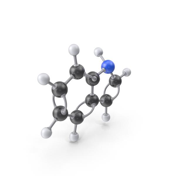 Indole Molecule PNG & PSD Images