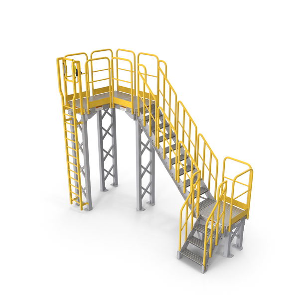 Stair: Industrial Catwalk Staircase PNG & PSD Images