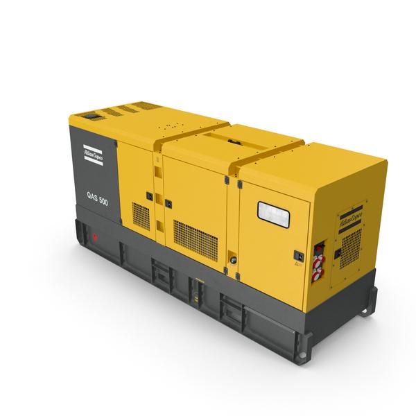 Industrial Diesel Generator Atlas Copco PNG & PSD Images