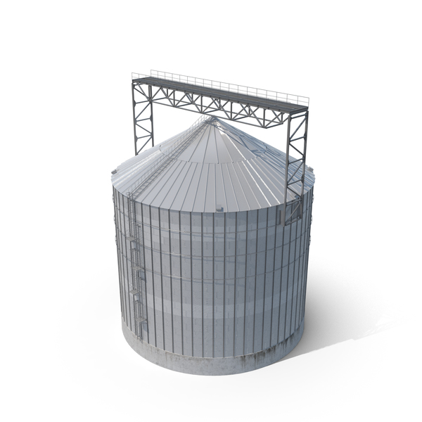 Industrial Grain Silo PNG & PSD Images
