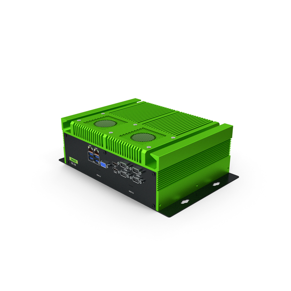 Industrial Mini PC Green PNG & PSD Images