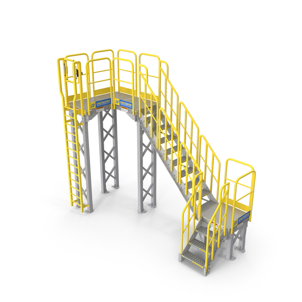 Industrial Steel Catwalk Stairs PNG & PSD Images