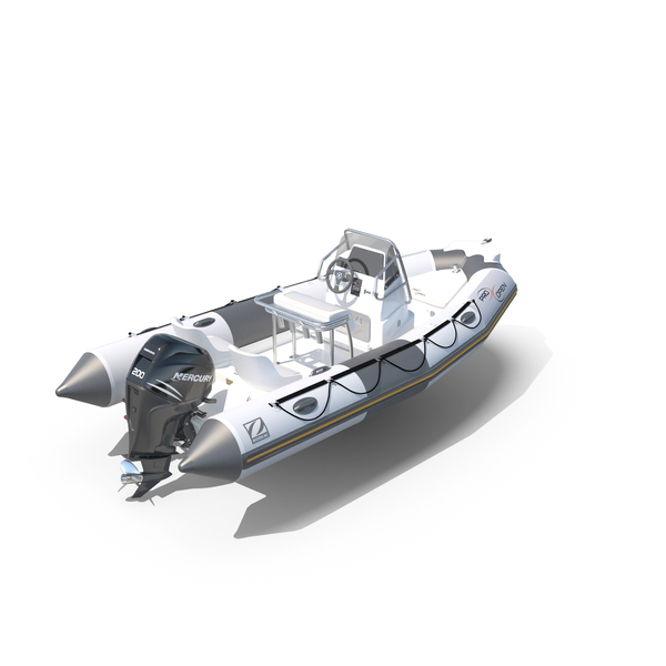 Inflatable Boat Zodiac ProOpen 550 PNG & PSD Images