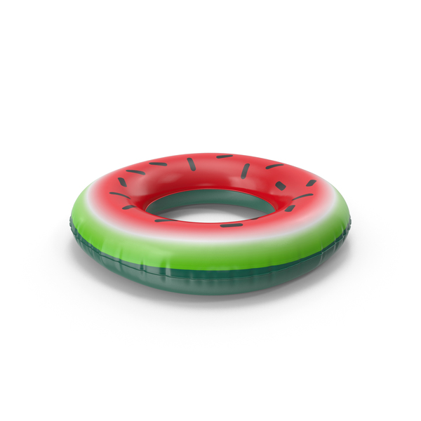 Toy: Inflatable Pool Ring Watermelon PNG & PSD Images