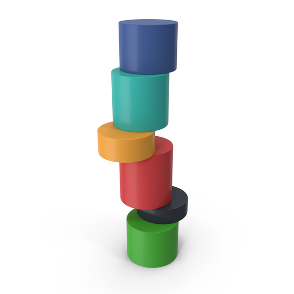 Infographic Cylinder Ladder Chart PNG & PSD Images