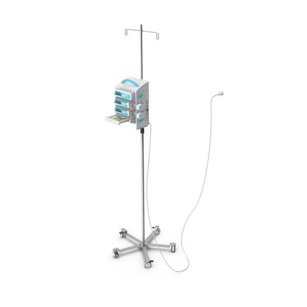 Medical Instruments: Infusion Pump PNG & PSD Images