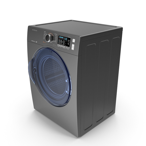 Washing Machine: Inox Front Load Dryer Samsung PNG & PSD Images