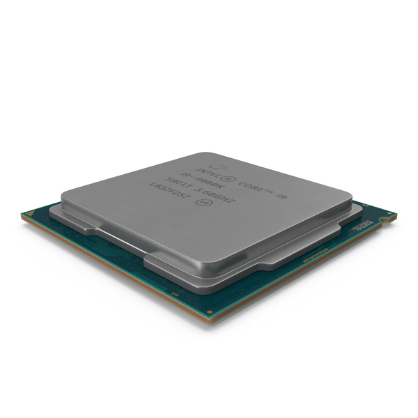 Computer Chip: Intel Core i9 9900k CPU PNG & PSD Images