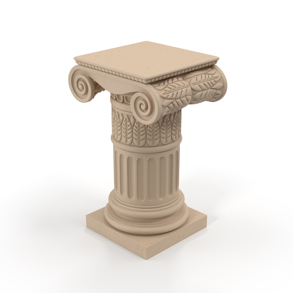 Ionic Column Pedestal PNG & PSD Images