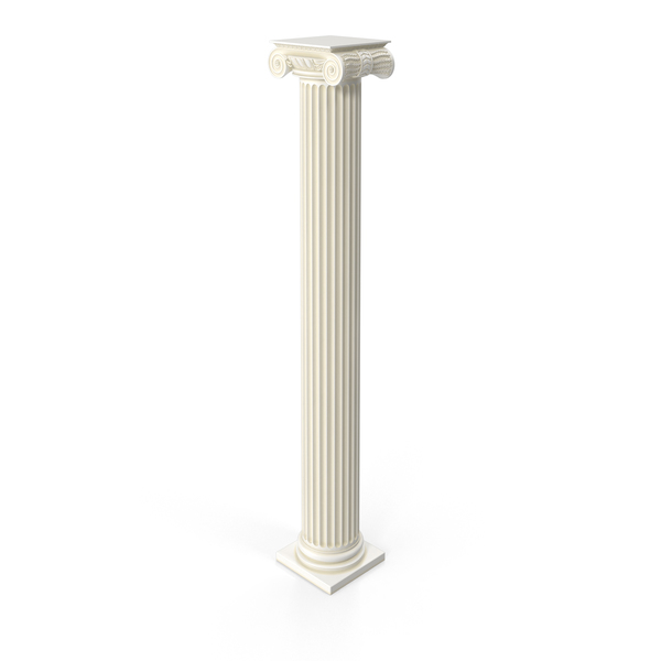 Ionic Flute Column PNG & PSD Images