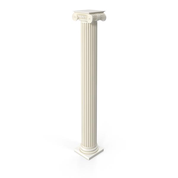 Ionic Flute Column Object