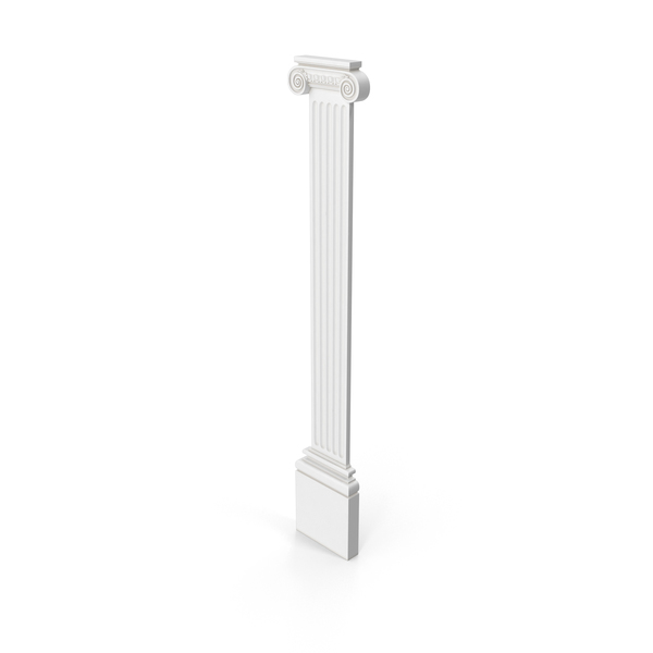 Ionic Fluted Roman Pilaster PNG & PSD Images