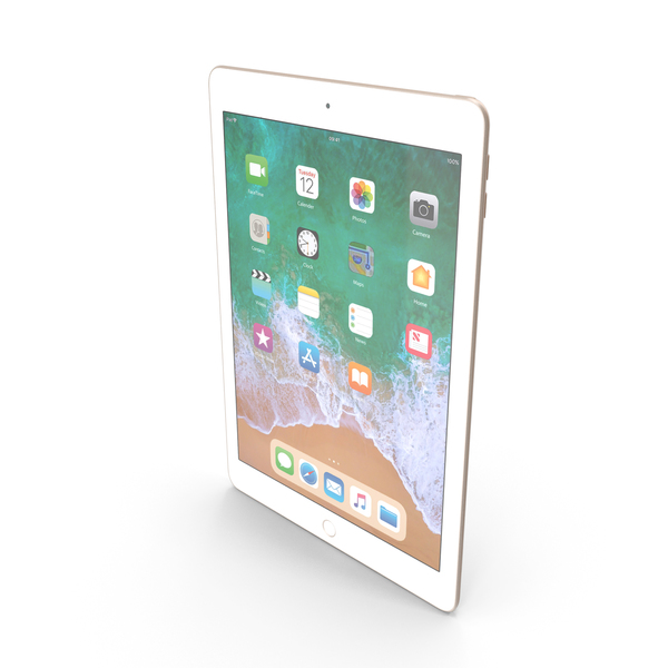iPad 9.7 2018 Gold PNG & PSD Images